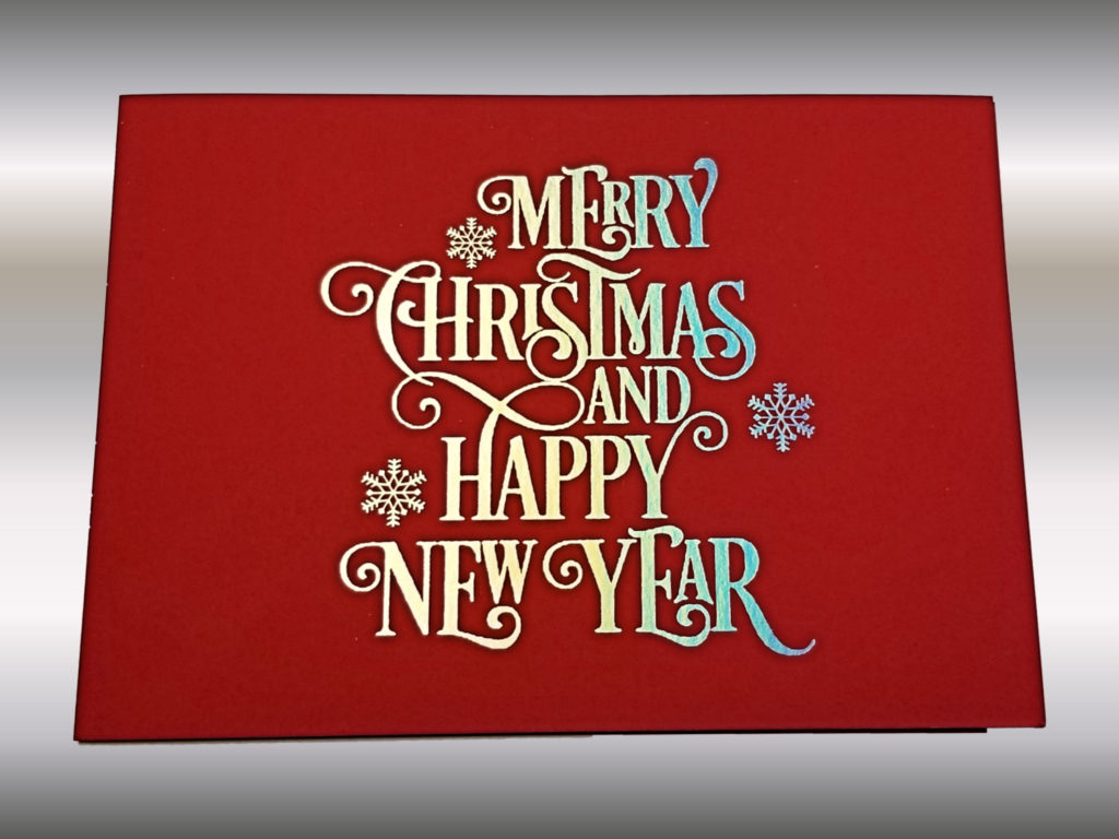 3 Colors Foilstamped Diecut Christmas Card Cover